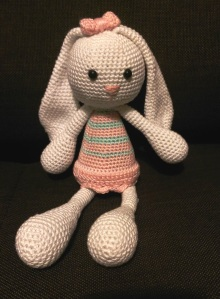 The latest one, finished just yesterday, in white, pink and mint.